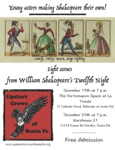 "Upstart Crow of Santa Fe presents ""The Twelfth Night"" @ Warehouse 21 
