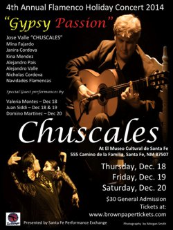 "Chuscales: ""Gyspy Passion"" Annual Flamenco Holiday Concert @ El Museo Cultural 