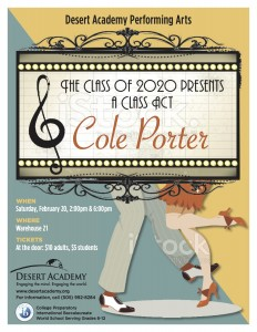 A CLASS ACT - COLE PORTER: Desert Academy Presents @ Warehouse 21 | Santa Fe | New Mexico | United States