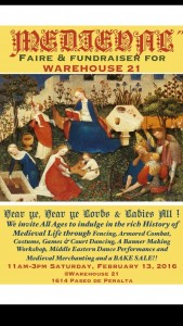 MEDIEVAL FAIRE & FUNDRAISER for Warehouse 21 @ Warehouse 21 | Santa Fe | New Mexico | United States