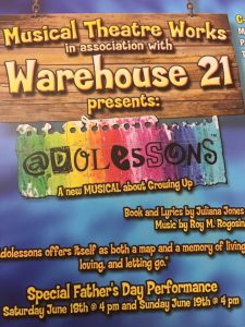 """Musical Theatre Works & Warehouse 21 Presents """"Adolessons"""" @ Warehouse 21 