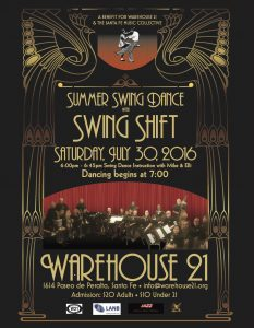SUMMER SWING DANCE! @ Warehouse 21 | Santa Fe | New Mexico | United States