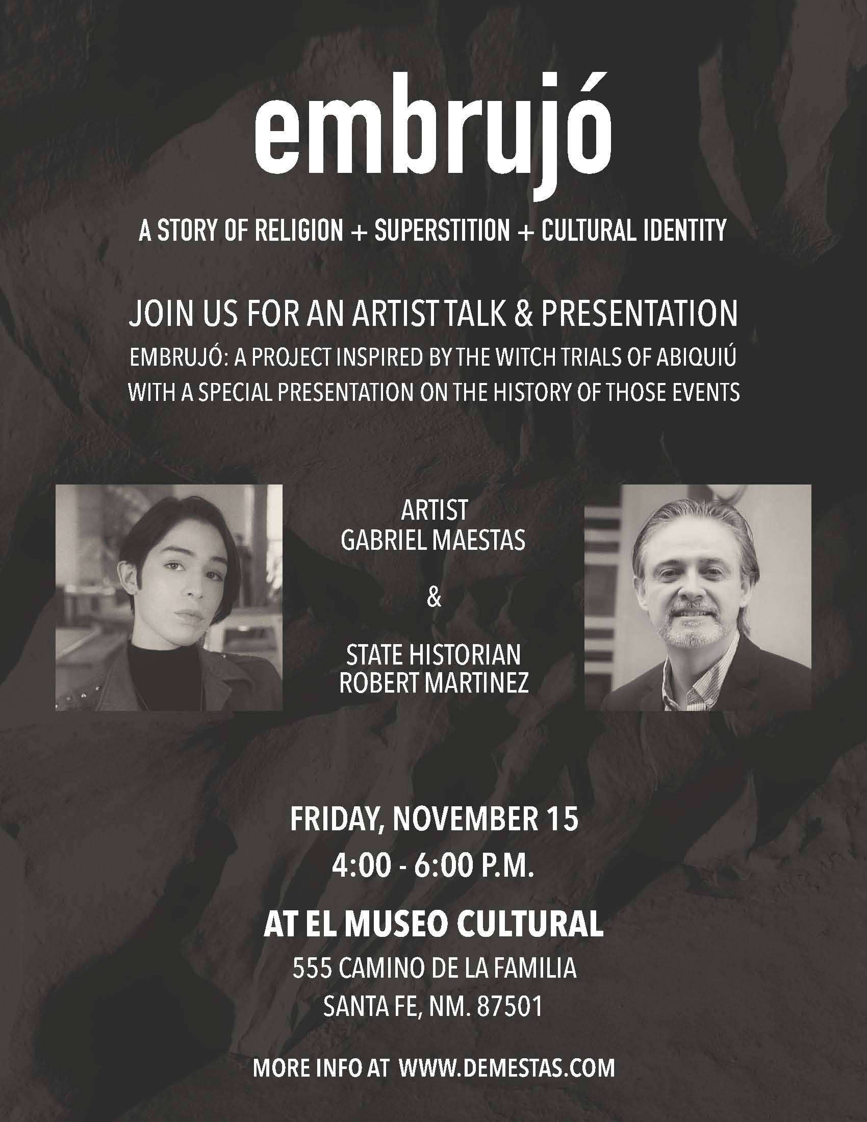 EMBRUJÓ: A STORY OF RELIGION, SUPERSTITION AND CULTURAL IDENTITY @ El Museo Cultural de Santa Fe | Santa Fe | New Mexico | United States
