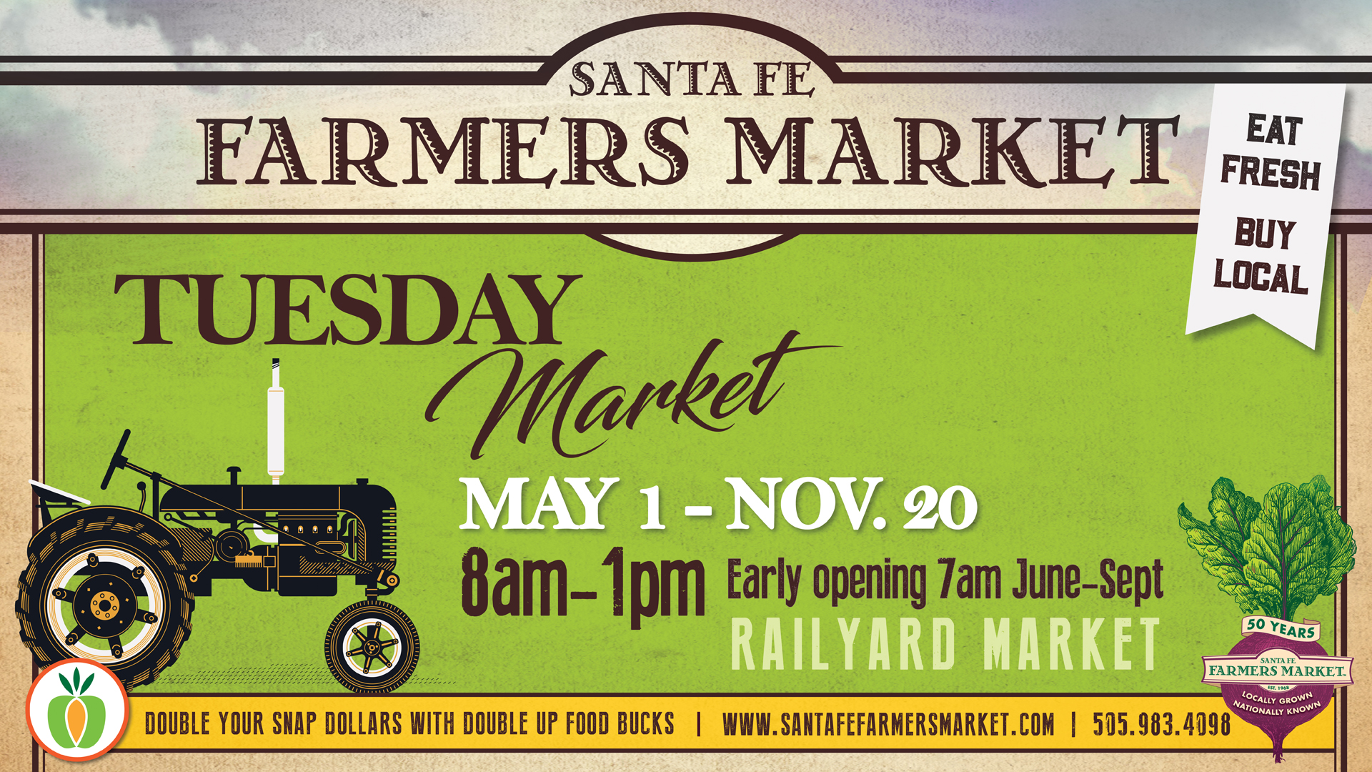 TUESDAY FARMERS MARKET @ Santa Fe Farmers Market | Santa Fe | New Mexico | United States