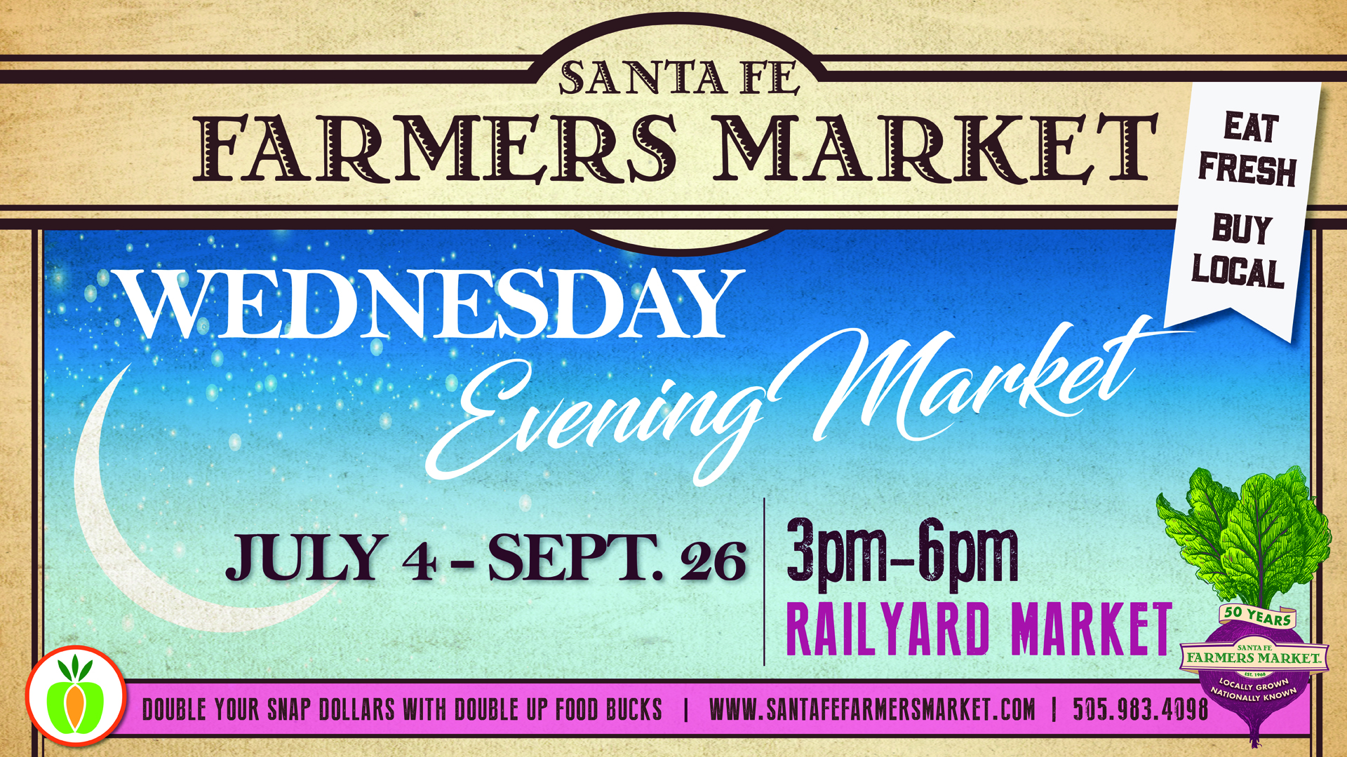 WEDNESDAY EVENING FARMERS MARKET @ Santa Fe Farmers Market | Santa Fe | New Mexico | United States