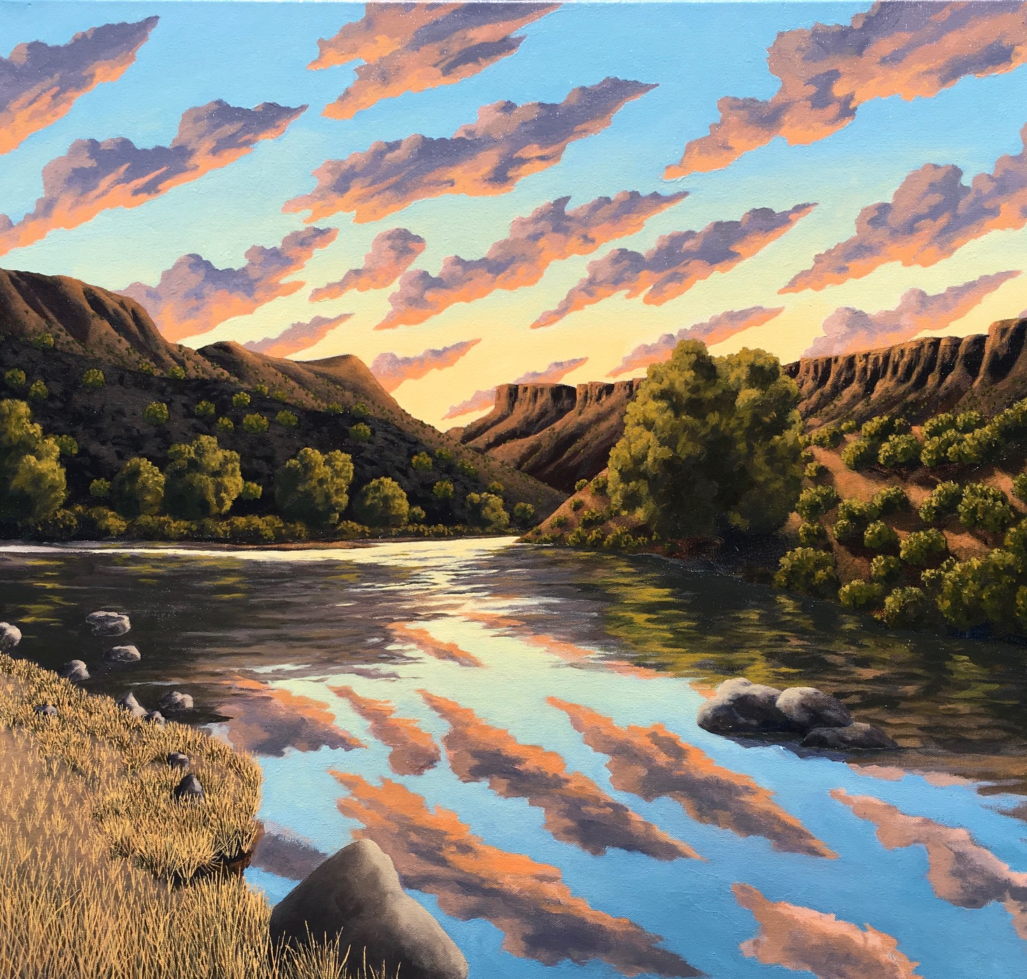 """CLOUDS"": NEW PAINTINGS BY DOUG WEST @ Blue Rain Gallery 