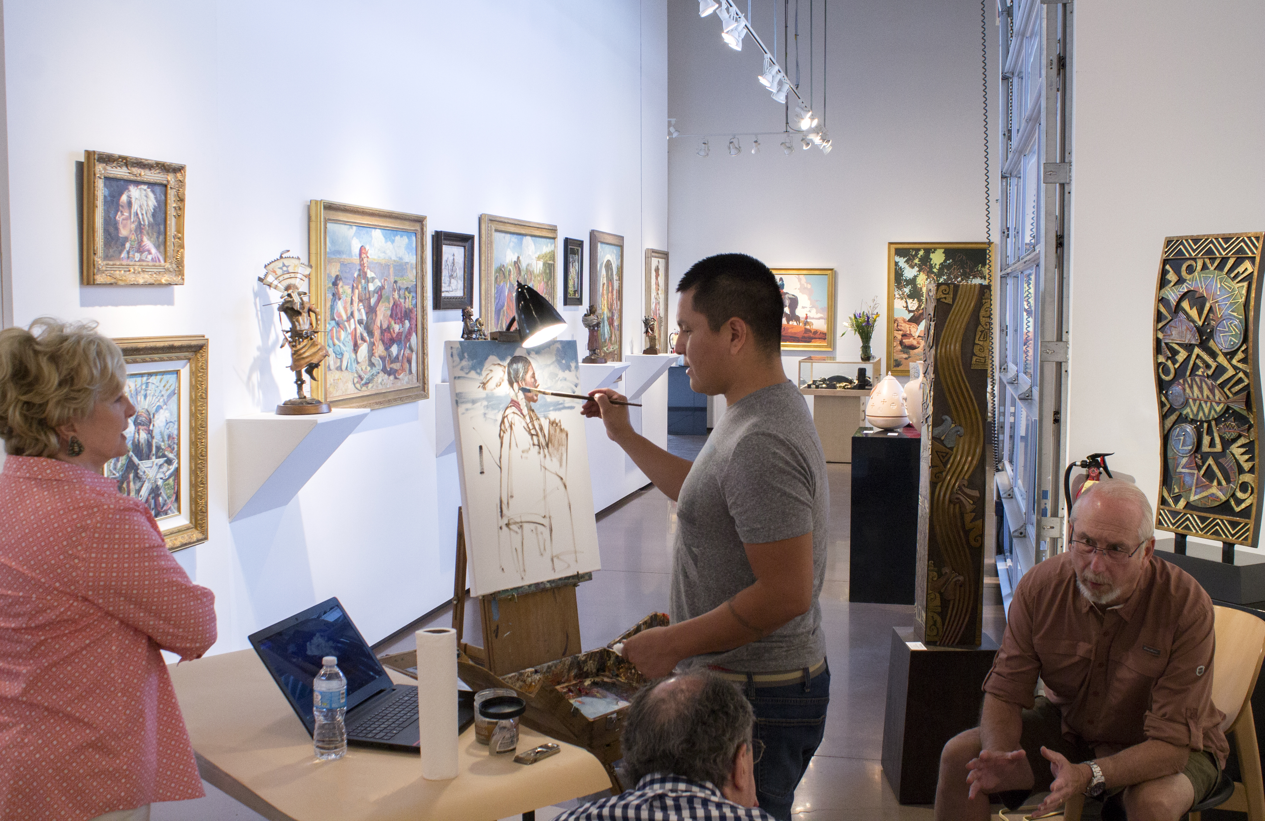 PAINTING DEMONSTRATION WITH HYRUM JOE @ Blue Rain Gallery | Santa Fe | New Mexico | United States