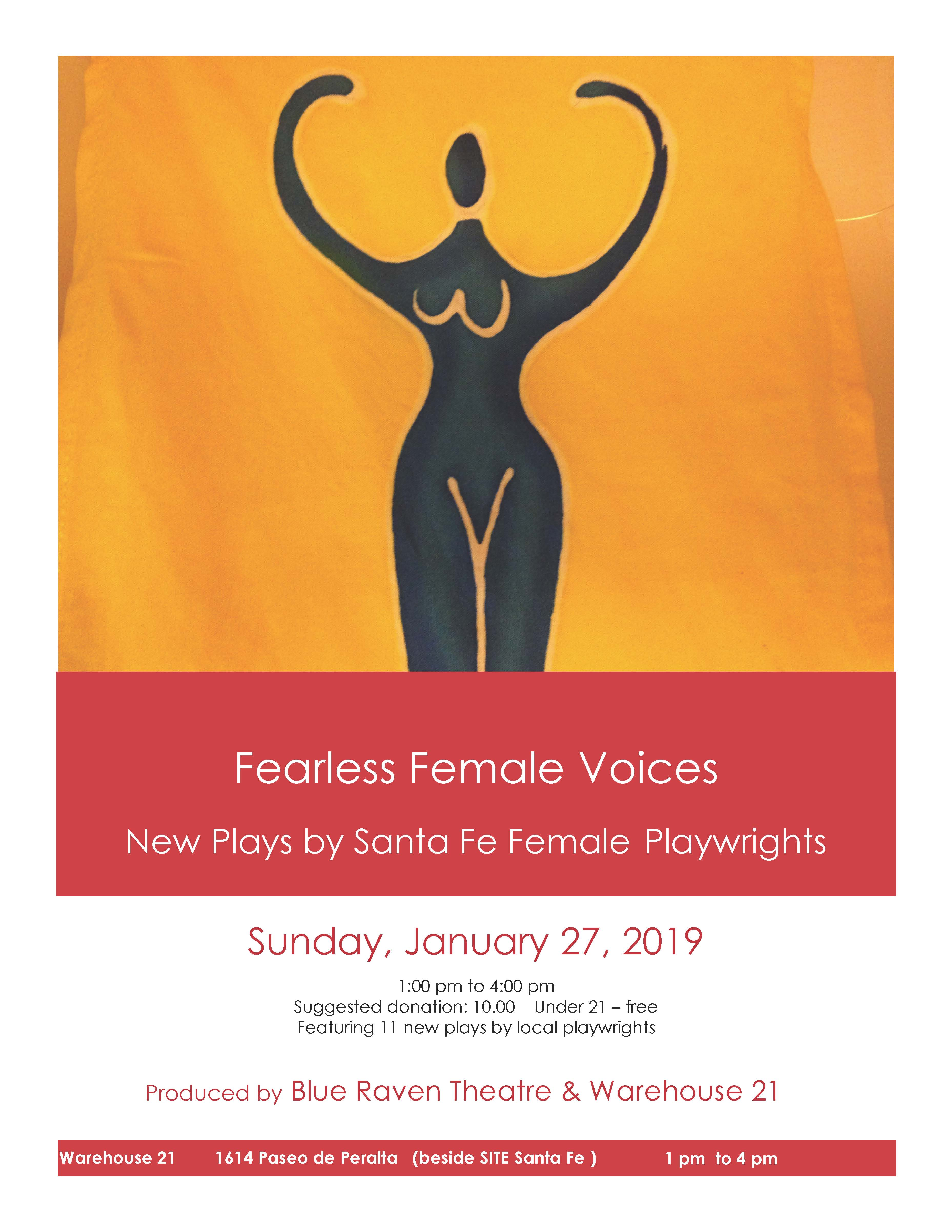 """FEARLESS FEMALE VOICES"" @ Warehouse 21 
