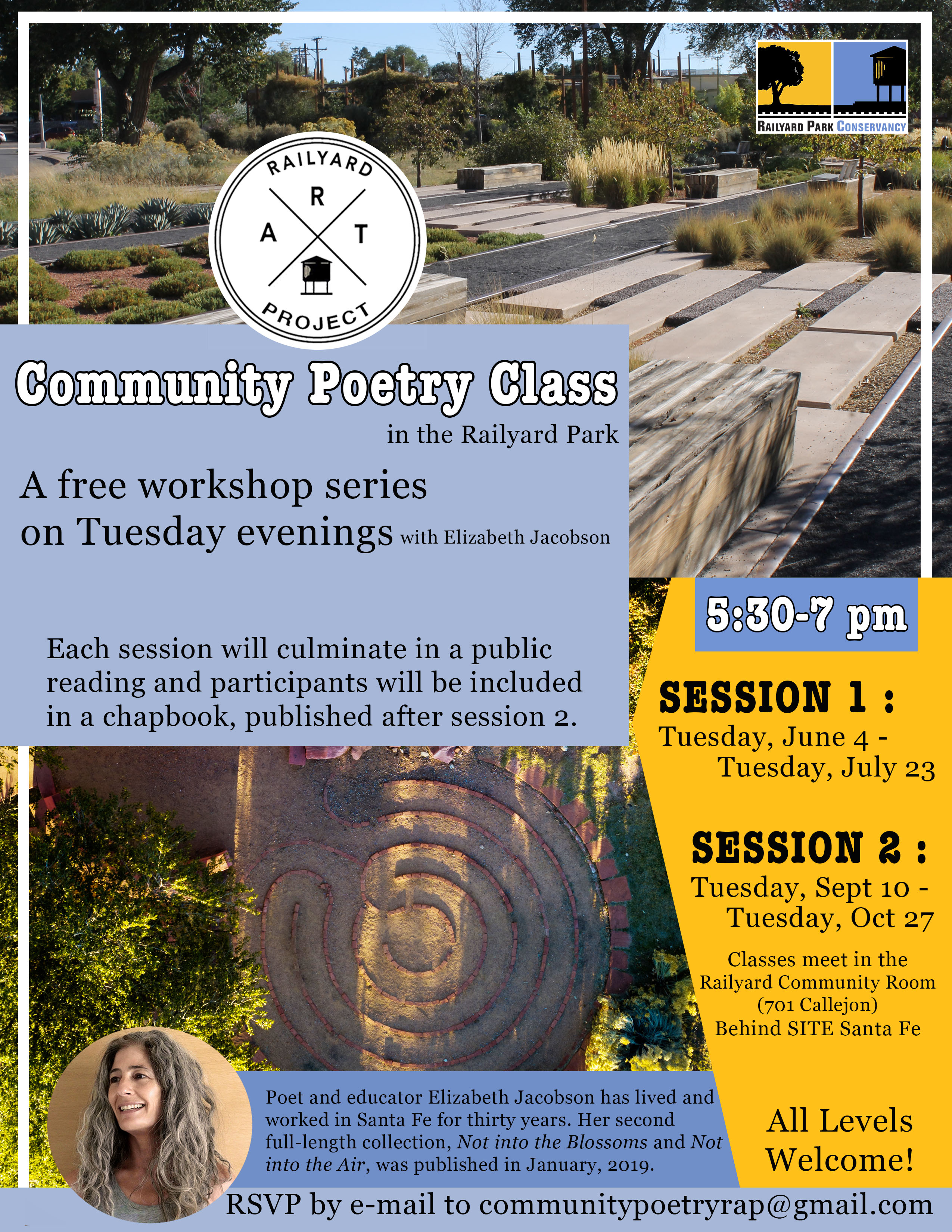 COMMUNITY POETRY CLASS @ Railyard Park Community Room | Santa Fe | New Mexico | United States