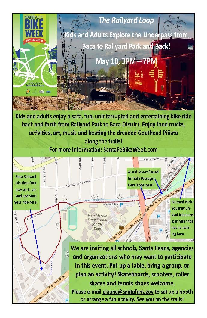 BIKE TO WORK WEEK - RAILYARD LOOP @ Railyard Park | Santa Fe | New Mexico | United States